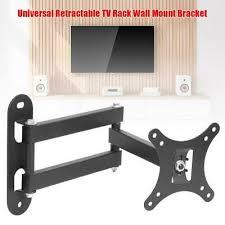universal retractable tv rack wall