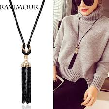 whole ravimour long necklace gold