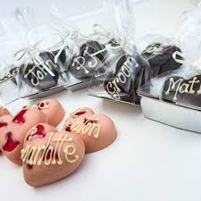 Personalised Chocolate Wedding Favours Place Settings