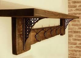 rustic coat hanger wall rack home depot with shelf oak racks inspiring wooden mounted laundry winning