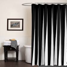 black and white shower curtains. Modern Polyester Shower Curtains Black White Striped Printed Waterproof Fabric For Bathroom Eco-friendly Home And F