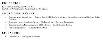 Example Of Skills Section On Resume Additional Skills Resume