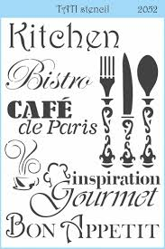 Kitchen Stencil 17 Best Images About Stencil Word On Pinterest Cooking Quotes
