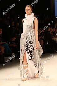 Fashion Design Studio Sydney Model On Catwalk Showcases Designs By Anx Editorial Stock