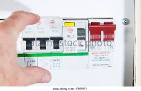 home fuse box stock photos home fuse box stock images alamy domestic home electrics main fuse box switch being thrown stock image