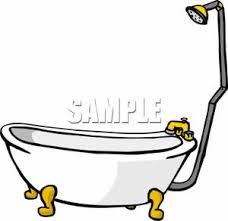 shower tub clipart. Clip Art Image: A Shower Tub Clipart H