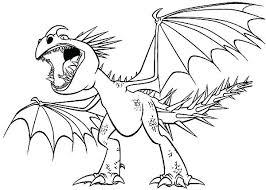 Flying Dragon Coloring Pages Printable How To Train Your Free Dra