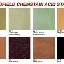 Scofield Acid Stain Color Chart Yelp