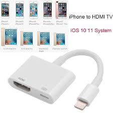 Dây cáp HDMI HD AV 1080P chuyển chui Lighting thành cổng HDMI dành cho iPad  IOS iPhone 11 Pro Max X XS XR