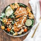 chicken and black bean salad with spicy ranch dressing