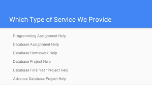 database homework help database assignment help database homework h 6 which type of service we provide programming assignment help database