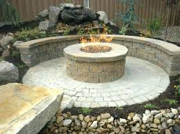 diy patio with fire pit. Diy Paver Patio With Fire Pit Ideas And Walls Contractor Natural Gas O
