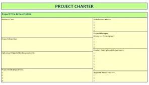 One Pager Project Template One Page Project Charter Template Project Charter Template