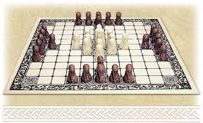 Game With Rocks And Wooden Board Best The Viking Game Hnefatafl