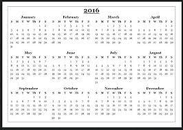 Free Annual Calendar Template – Tangledbeard