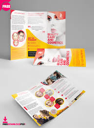 Templates For Brochures Free Download Beauty Salon Trifold Brochure Template Freedownloadpsd Com