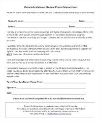Student Templates Student Release Form Template Parent Release Form ...