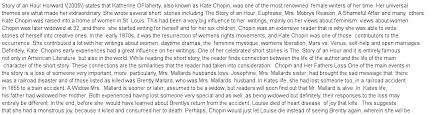 """biographical approach to kate chopin s """"the story of an hour  essay preview"""