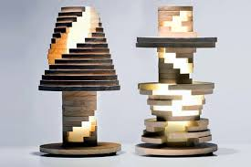 design classic lighting. This Unique Lamp Design Was Created By Manufacture Italiana Design. It Has The Shape Of A Classic Table Lamp, But Is Made Pieces Wood That Can Be Lighting