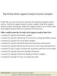 Sample Help Desk Analyst Resume Help Desk Analyst Resume 21