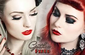 gothic pinup makeup tutorial