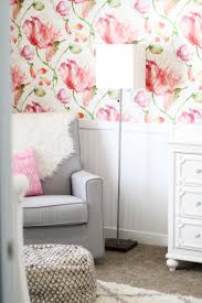 modern nursery wallpaper modern floral ba nursery positively oakes interior  decor home