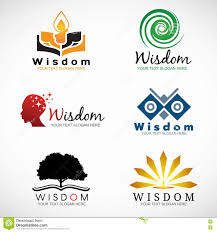 Character Logo Designer Wisdom And Knowledge Logo Vector Set Design Stock Vector