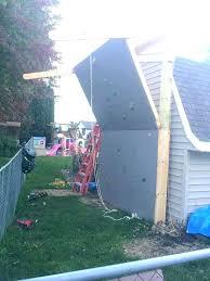 how to build a home climbing wall backyard rock outdoor bu