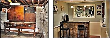 basement remodels before and after. Fine And Hanging Wires Exposed Waste Line Rafters Concrete Floor  AFTER A Gorgeous Finished Entertainment Area Basement Renovation Before For Basement Remodels Before And After L