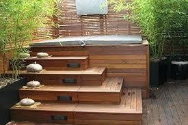 hot tub deck. Hot Tub Deck Wood Cabinet And Steps Plans For Spa Shell Platform