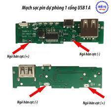 Mạch Sạc Pin Dự Phòng 1 Cổng USB 5V/1A