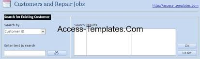 Ms Access Templates For Small Business Computer Repair Shop Access