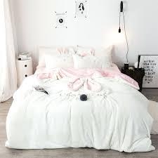 3 chenille crystal velvet bedding set full queen king quilt cover bed sheet pillowcase duvet crinkle