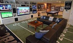 Sports man cave Simple 10 Baseball Mom Stuff Ultimate Sports Man Caves 13 Pictures Suburban Men