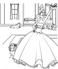 Coloring Pages Barbie Princess And Popstar Barbie Amp Her Sisters