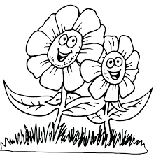 Free Flower Coloring Pages For Preschoolers Spring Flowers Coloring