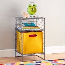 grey on the grid cube nightstand  the land of nod