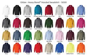 Hoodie Colour Chart Create Your Own Adult Hoodie