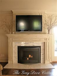 fireplace carrera slab hearth beveled edge carrera subway tiles distressed mantle
