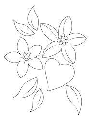 Small Picture Heart and Flowers coloring page Free Printable Coloring Pages