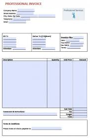 Professional Services Invoice Template Word Apcc2017