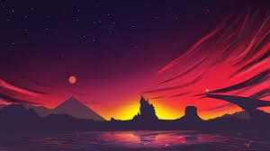 3840x2160 Minimal Sunset Landscape 4k ...