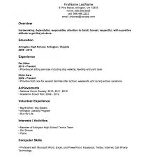 Teenage Resume Resumeplate No Experience Child Acting Teenager Job Teenage Resume 55