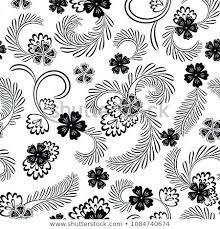 Vintage Botanical Prints Black Background Abhishekyadav