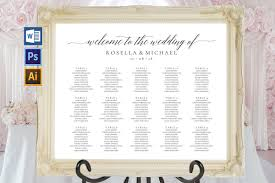 Wedding Seating Chart Sign Landscape Tos_15