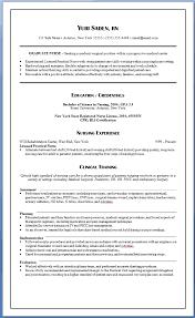 Graduate Nurse Resume Nursing Resume Samples For New Graduates Yuri