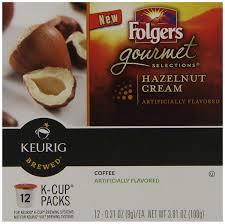 amazon com folgers hazelnut cream flavored coffee k cup pods amazon com folgers hazelnut cream flavored coffee k cup pods for keurig k cup brewers 72 count grocery gourmet food