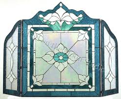 stained glass fireplace screens stained glass fireplace screen modern concept leaded glass fireplace screens with and