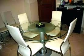 round dining table for 6 with lazy susan glass