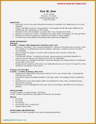 Free Resume Examples For Cna Fresh Cna Resume Samples Elegant Unique